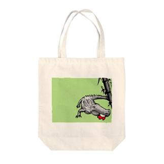 庭にはもう和のワニのみ Tote bags