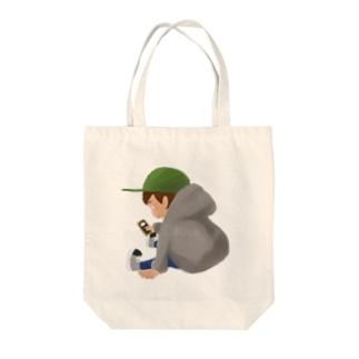 タダボーツト Tote bags