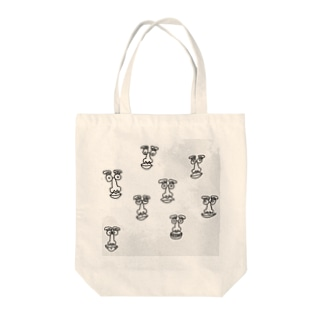 funny faces Tote bags