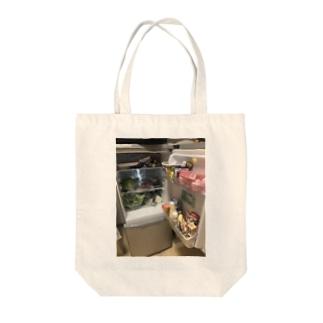 ハッピー冷蔵庫 Tote bags