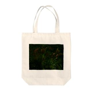 hiroki-naraのススキ japanese pampas grass Tote bags