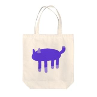 ヤミネコ Tote bags