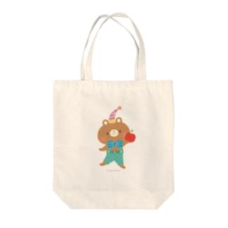 りんごとくま Tote bags