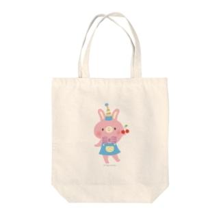 さくらんぼとうさぎ Tote bags
