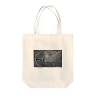 真帆画伯のペットの「ポっちゃん」 Tote bags