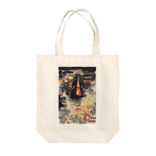 GAJUMARUの東京ネオン Tote bags