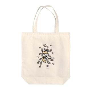 ニキビ面にハイキック Tote bags