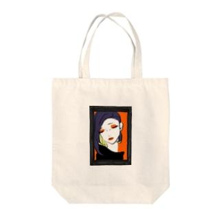額縁の乙女 Tote bags
