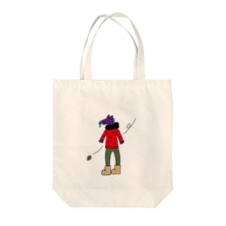ふゆのうま Tote bags
