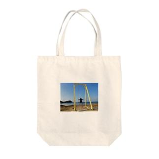 成美とブランコと海 Tote bags