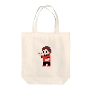 ダーツまろさん(ドット) Tote bags