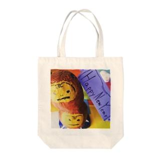 2016さる Tote bags