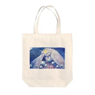 月繭護り Tote bags