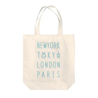 NEW YORK TOKYO LONDON PARIS トートバッグ