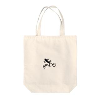 ヤモリは家のお守りです Tote bags