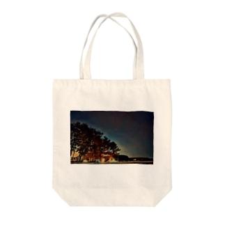 星空キャンプ(森) Tote bags