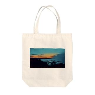sunrise 日の出 Tote bags