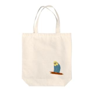 セキセイインコ すずちゃん Tote bags