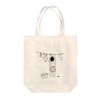 おせんたく Tote bags