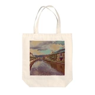 小樽の街並み Tote bags