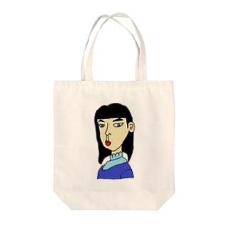 横向きの少女 Tote bags