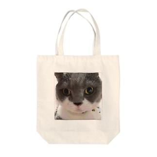 見つめるさるりーイラスト風 Tote bags