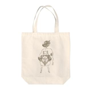 白澤 Tote bags