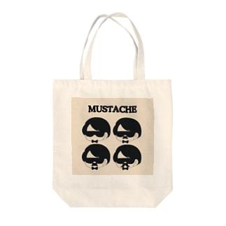 MUSTACHE Tote bags