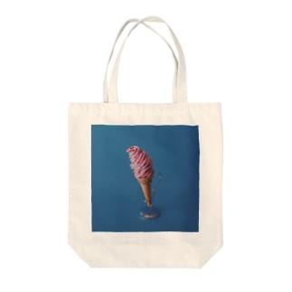ソフトクリーム(ストロベリー) Tote bags