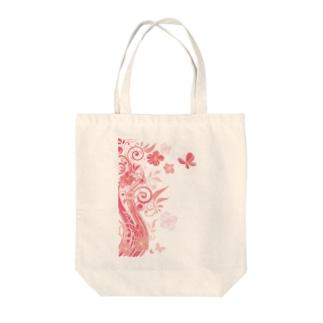 散りばめられた花たち Tote bags