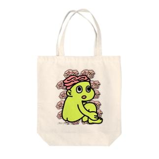 BRAIN-KUN Tote bags