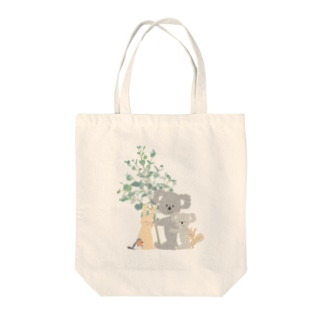 ema-emama『hug you』 Tote bags