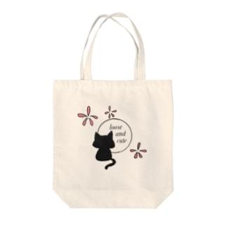 花猫 Tote bags