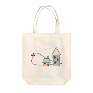 Stay home 文鳥 Tote bags