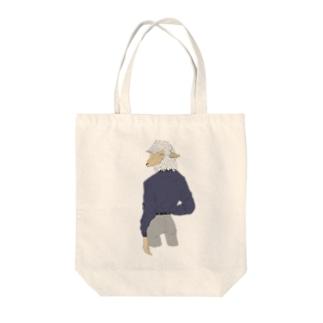 振り向き Tote bags
