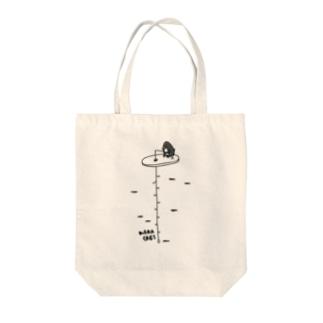 ワカサギ釣り&ペンギン Tote bags