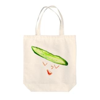 屋野キュー里 Tote bags