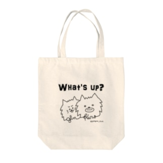 @ginkuro_mam【What's up?】 Tote bags