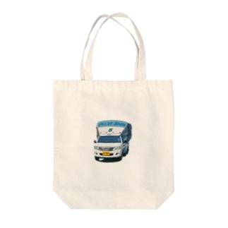 バンコクソンテウ(丸・手描き調) Tote bags