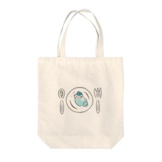 皿の上のじんねこ Tote bags