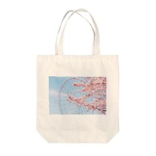 観覧車と桜。 Tote bags