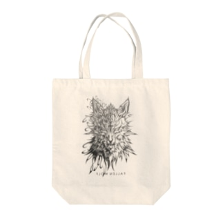 FALLEN WOLF Tote bags
