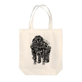 "Animalia Kinky "" Black Gorilla "" Tote bags"