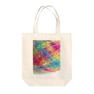 ふわふわ毛糸 Tote bags