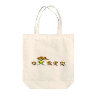お散歩中 Tote bags