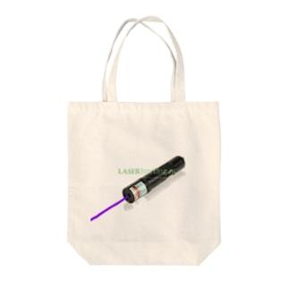 laser lamp paars  Tote bags