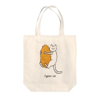 カキフライと猫 トートバッグ