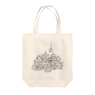 80+1ブロブ Tote bags