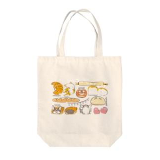 コーギーパン(横長) Tote bags