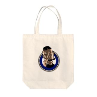 にゅうど Tote bags